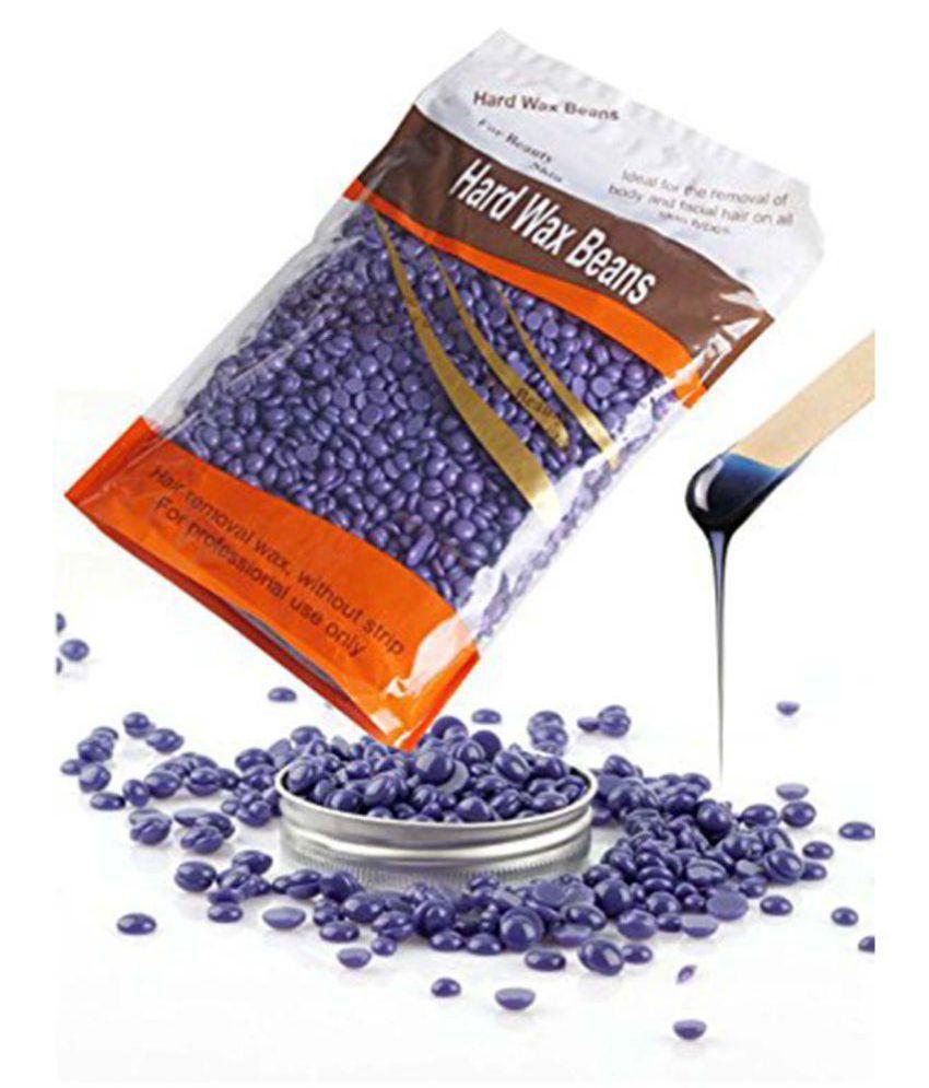ELEGANCIO Lavender Wax Beans Body Hair Removal +1 Sponge Hot Wax 500 gm