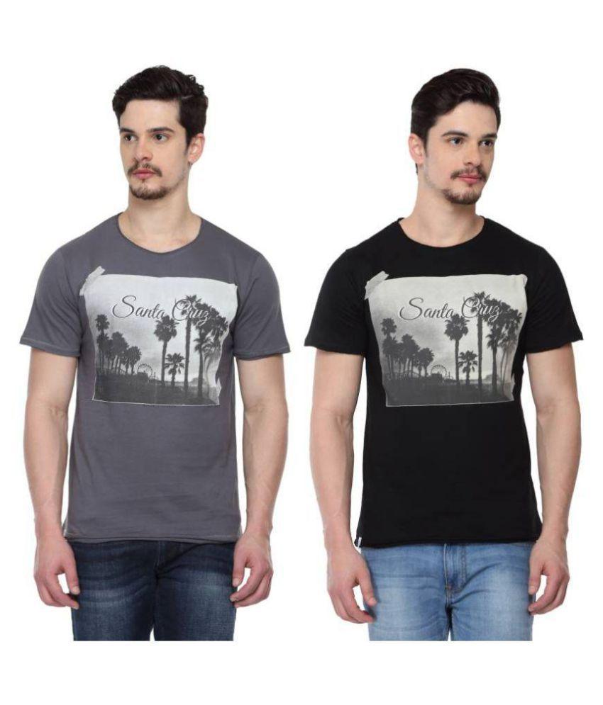 ODAKA Multi Round T-Shirt Pack of 2
