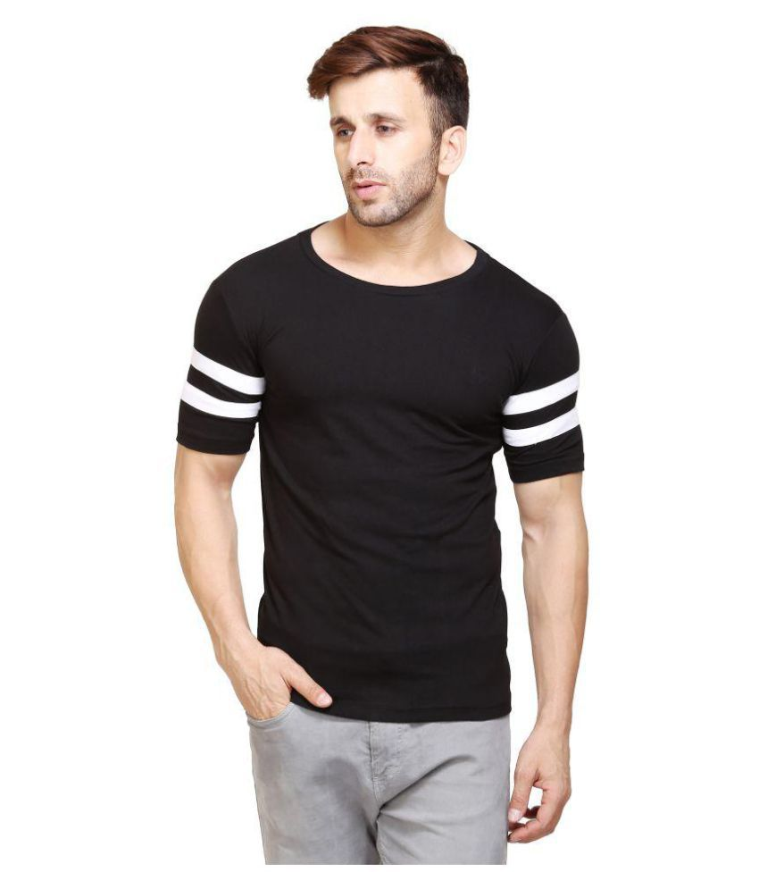 jsck Black Round T-Shirt Pack of 1
