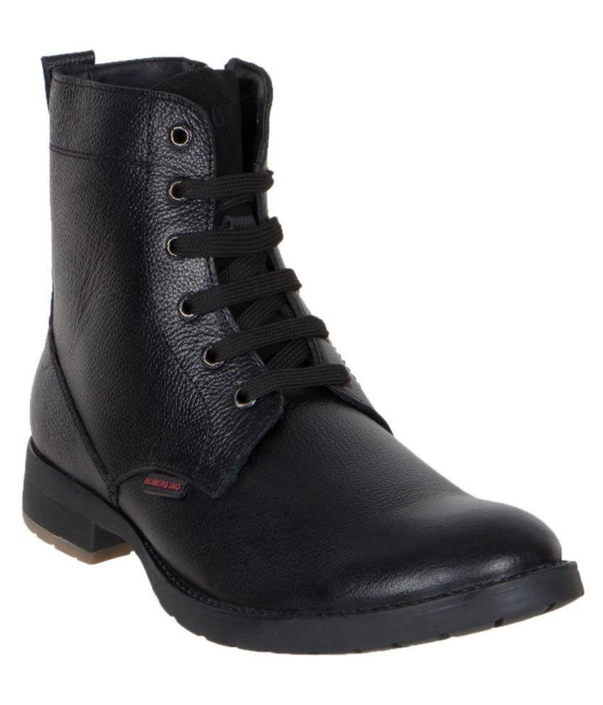 Numero Uno Black Casual Boot