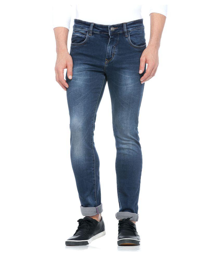 Tinted Navy Blue Slim Jeans