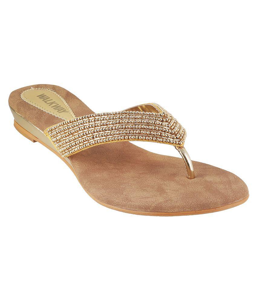 Walkway GOLD Wedges Heels