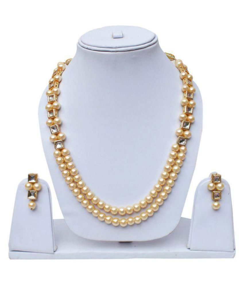 PEARL WITH KUNDAN NECKLACE SET