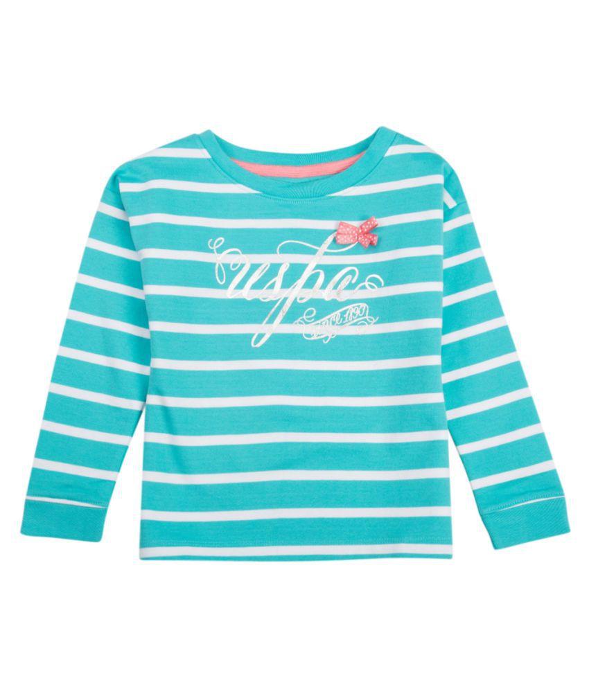 US Polo Girls Blue Casual Sweat Shirt