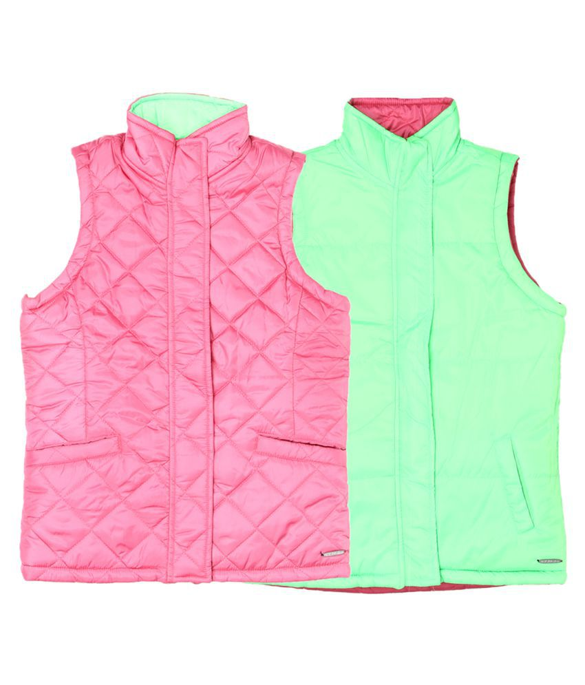 US Polo Girls Pink Casual Jacket