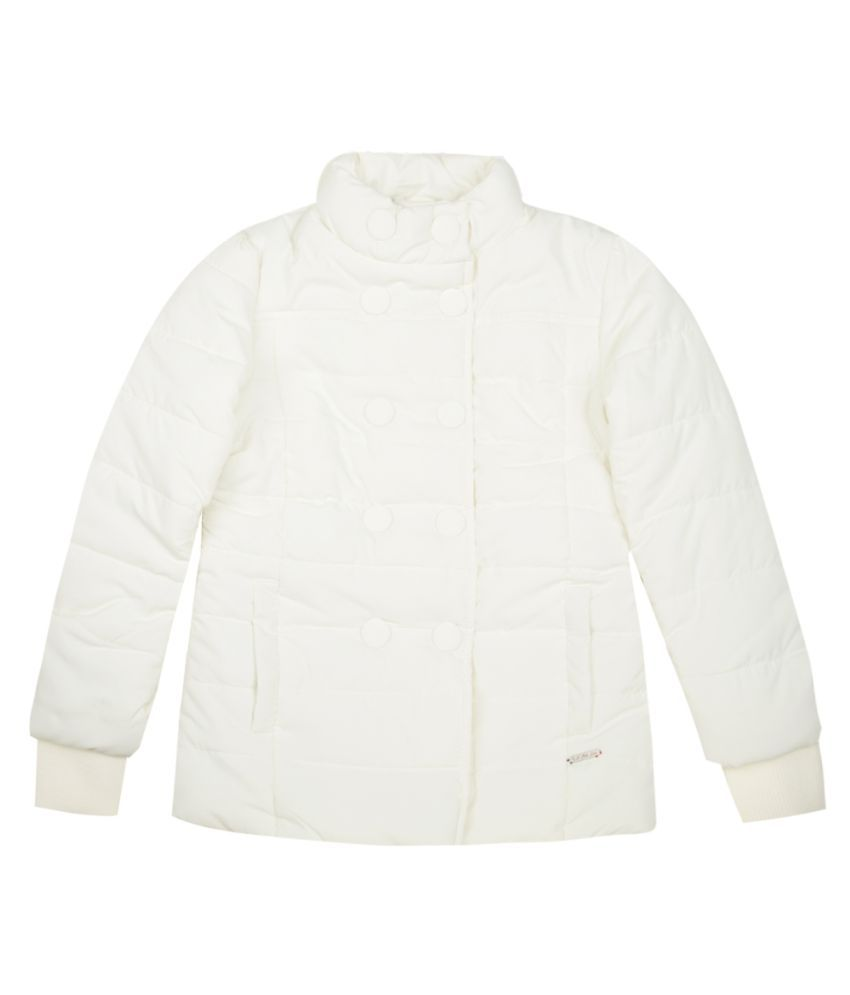 US Polo Girls White Casual Jacket