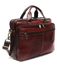 Golden Leaf ZS-08-LB Brown Leather Office Bag