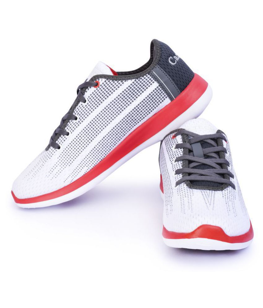Campus BATTLE X-10 White Running Shoes