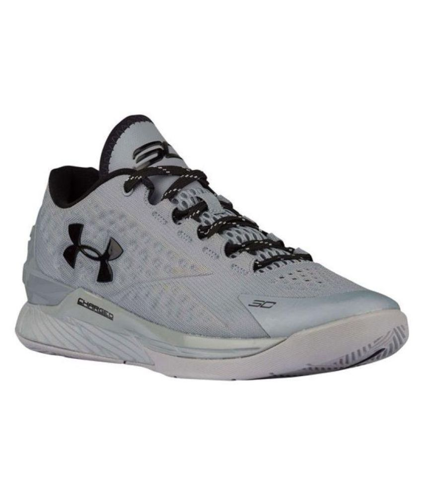 a623dc204d66 Under Armour Men s Stephen Curry 1 Low Gray Running Shoes - Buy ...