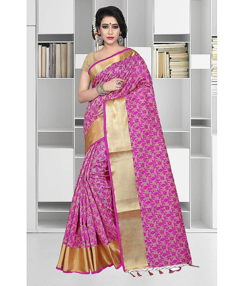 f9cbe07e93 Gazal Fashions Pink and Beige Banarasi Silk Saree - Buy Gazal Fashions Pink  and Beige Banarasi Silk Saree Online at Low Price - Snapdeal.com