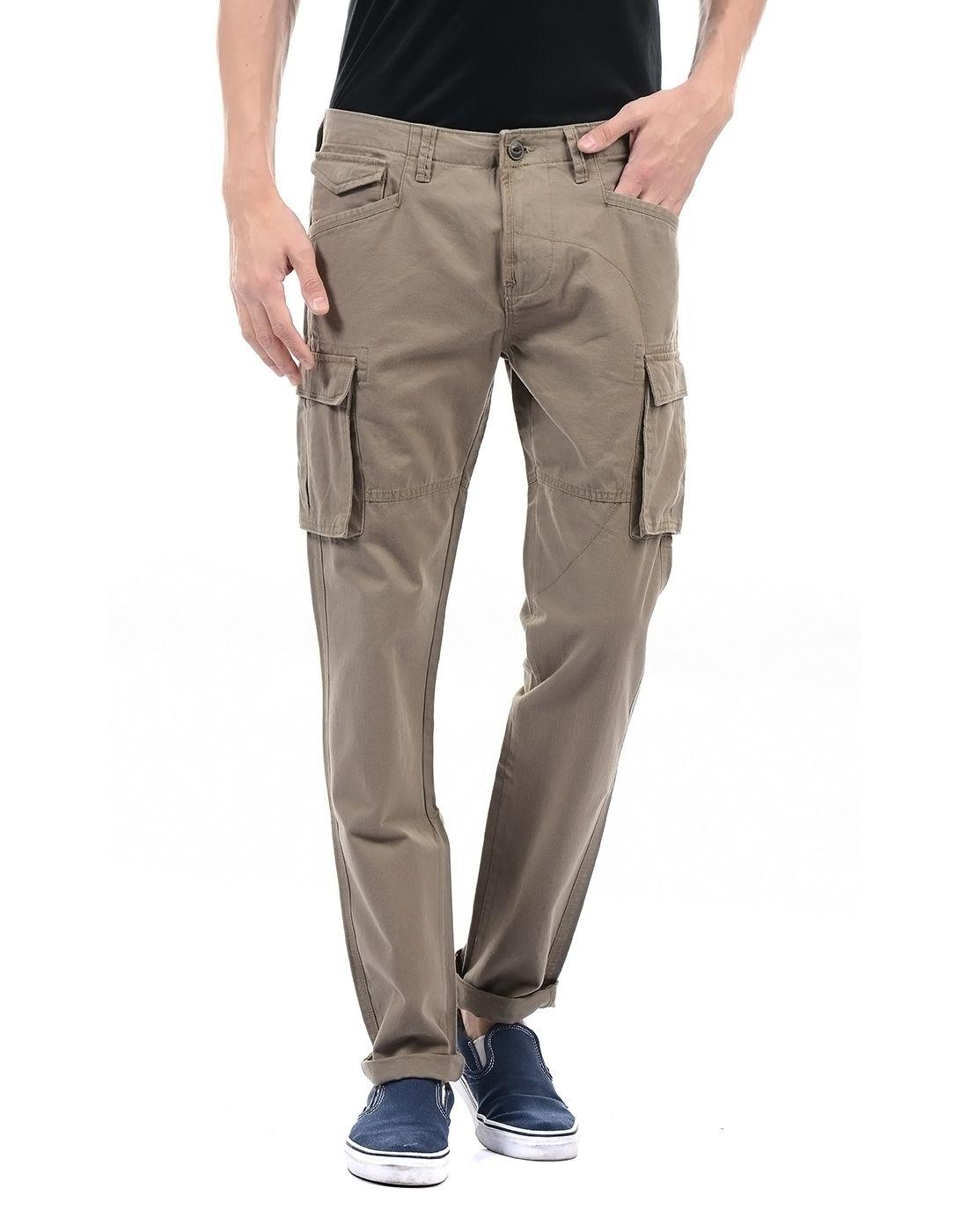 Pepe Jeans Brown Regular -Fit Flat Cargos