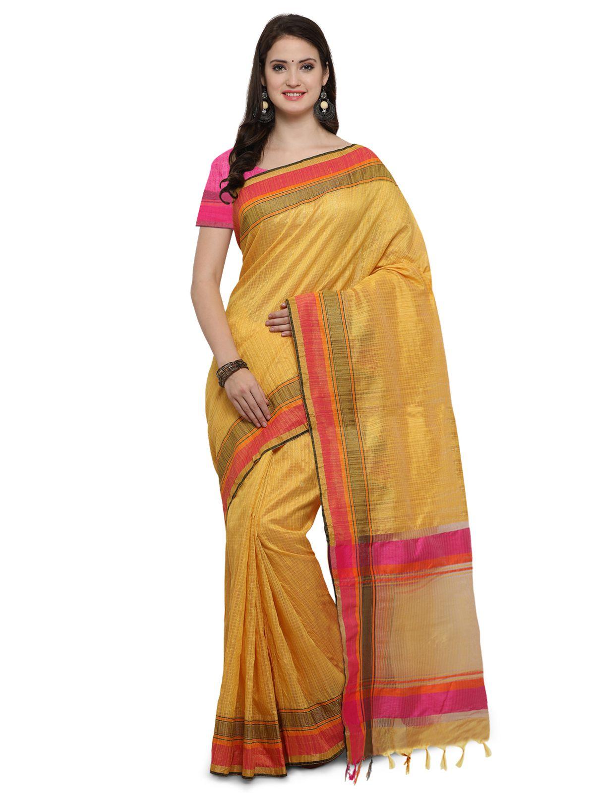 Saree Mall Yellow Art Silk Saree