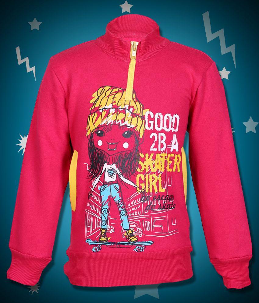 Cool Quotient Pink Sweatshirt For Girls