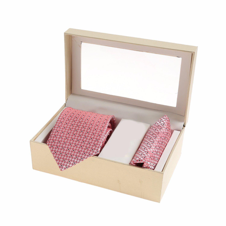 Sir Michele Pink Polka Dots Silk Necktie