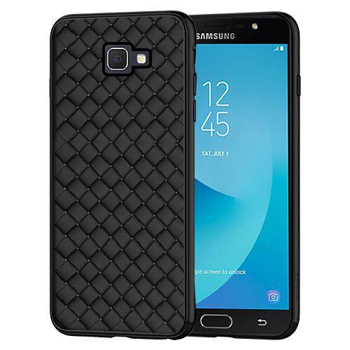 Samsung Galaxy J7 Prime Plain Cases Cell First Black Plain Back
