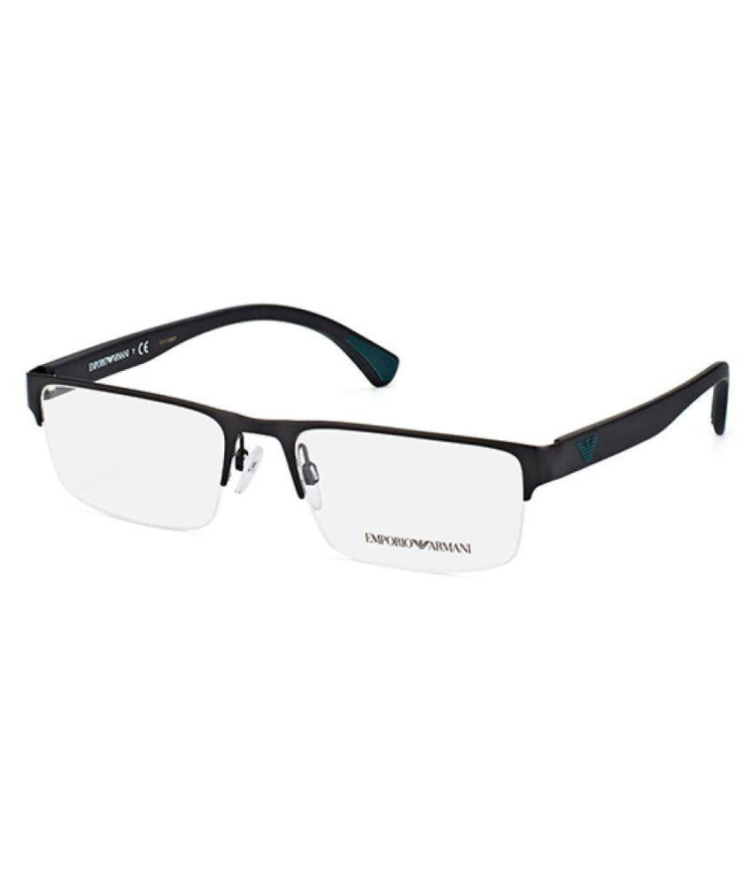Emporio Armani Black Rectangle Spectacle Frame EA 1050 3001 - Buy ...