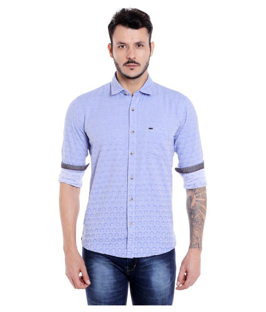 DONEAR NXG Blue Slim Fit Shirt