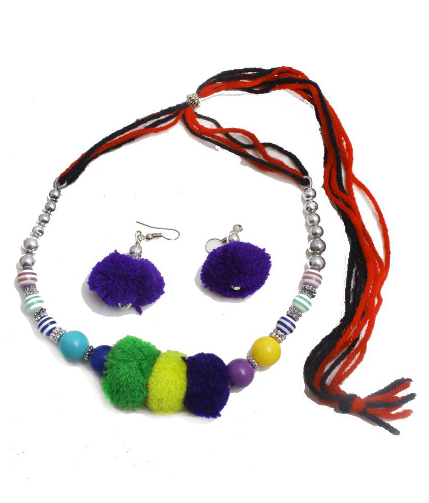 Yeki Fashions Multicolor Pom Pom Choker Necklace Nor Girls & Kids