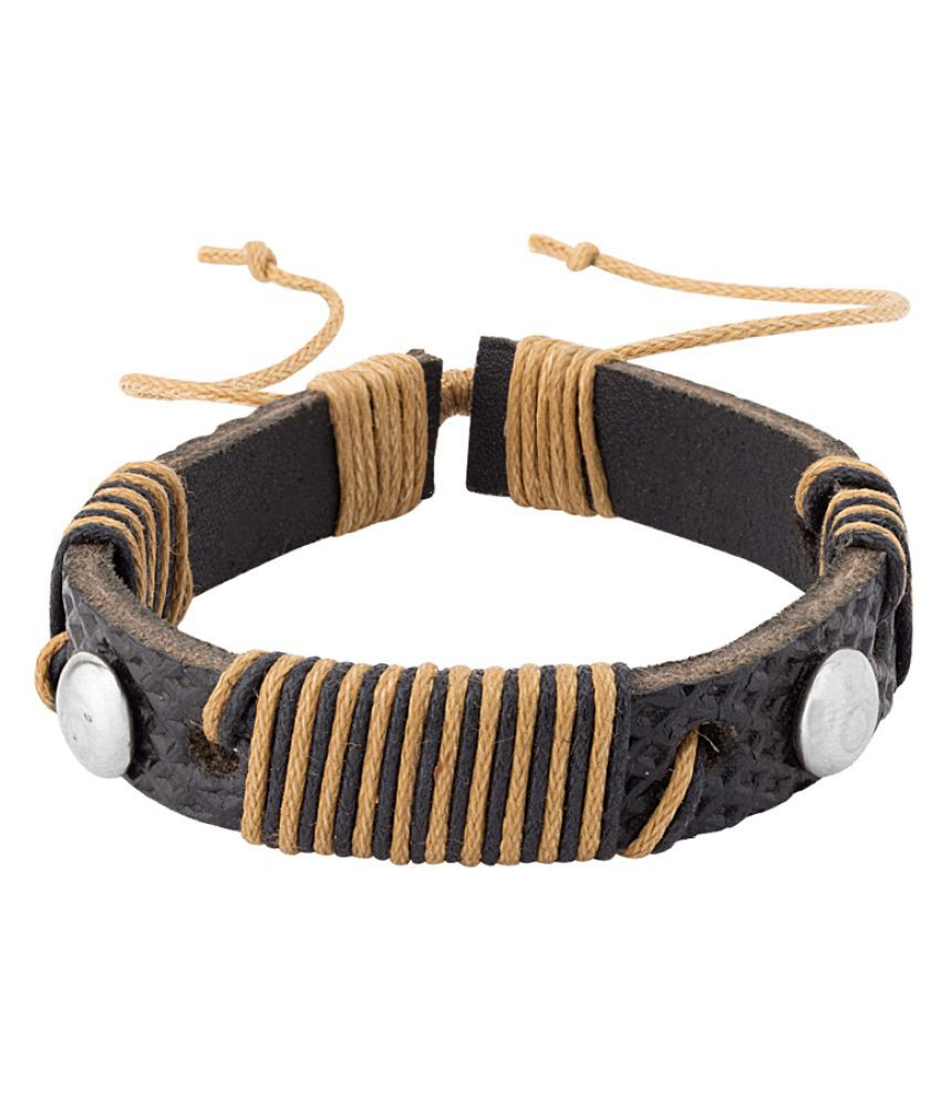 Dare Black Leather Wrap Bracelet from Cool Stacked