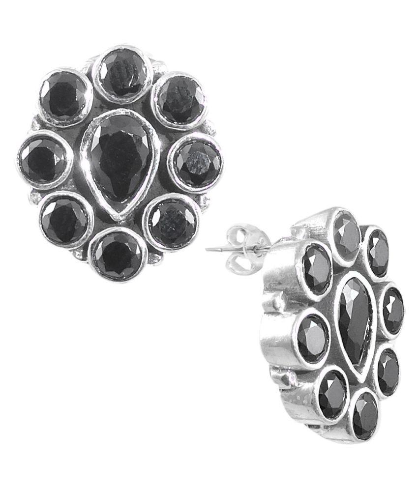 ELOTIC 92.5 Silver Onyx Studs