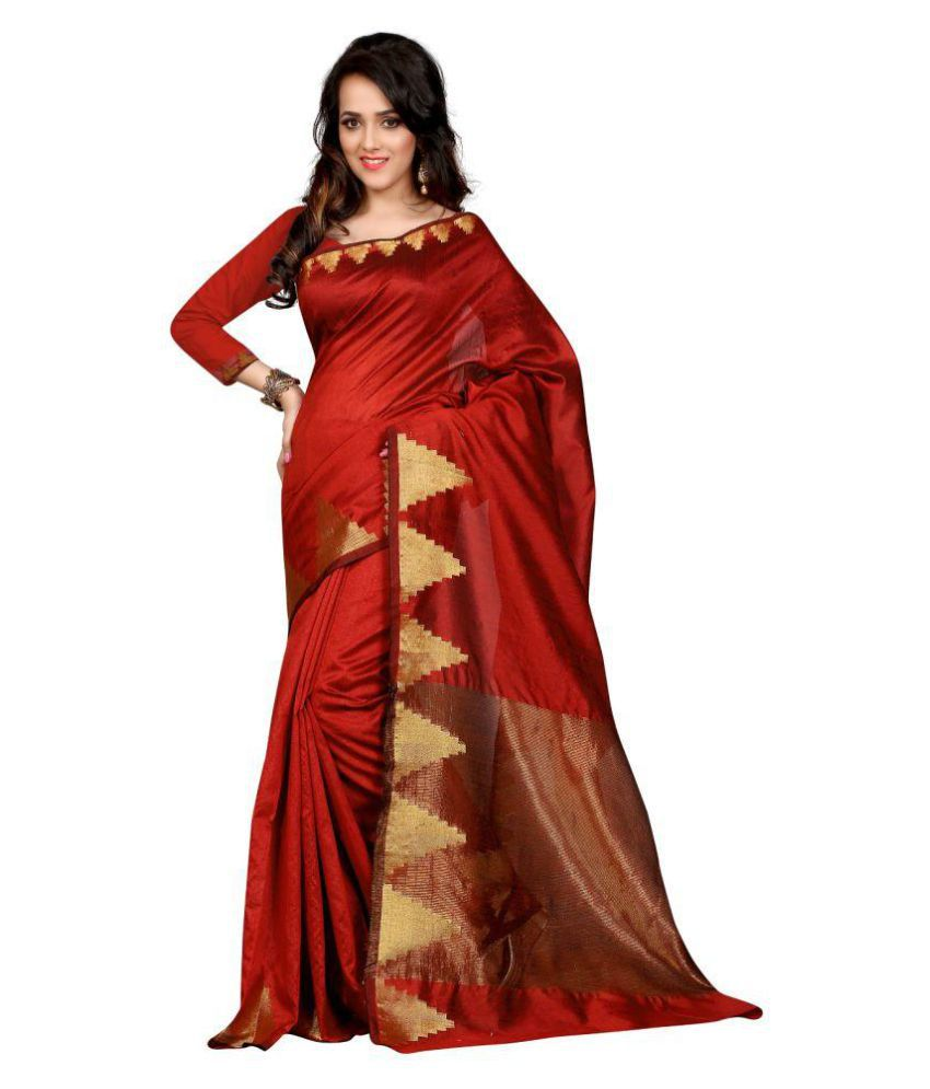 Varniraj Online Red Art Silk Saree
