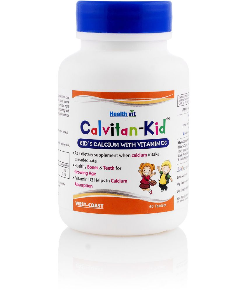 Healthvit Cal-kid Kid's Calcium With Vitamin D3 60 Tablets - Pack of 2