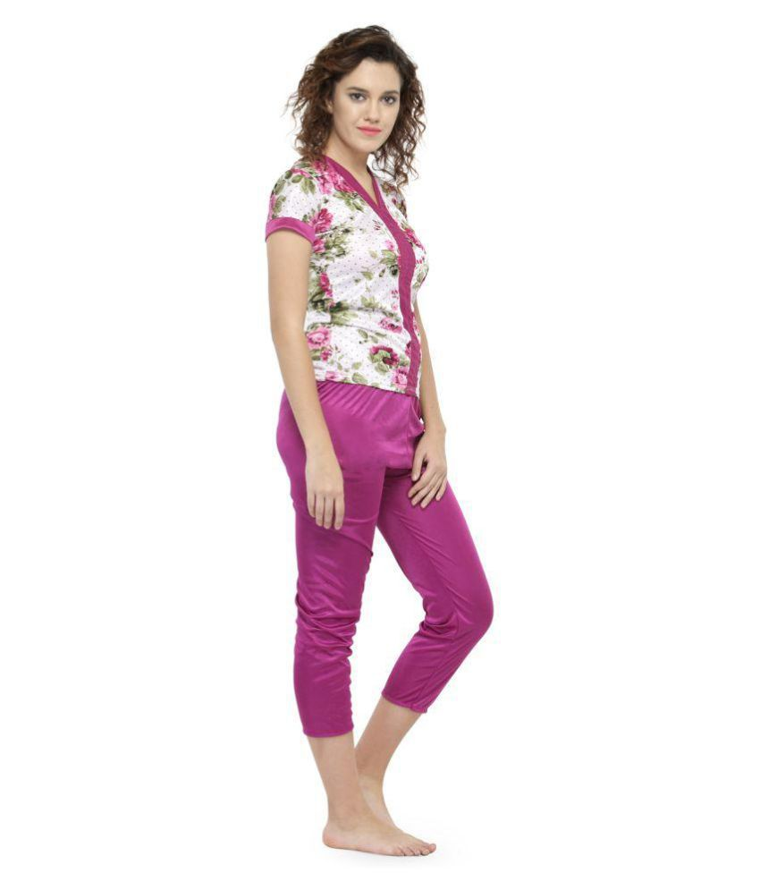 Buy N-Gal Satin Pajamas - Maroon Online at Best Prices in India ... 8a044cff4