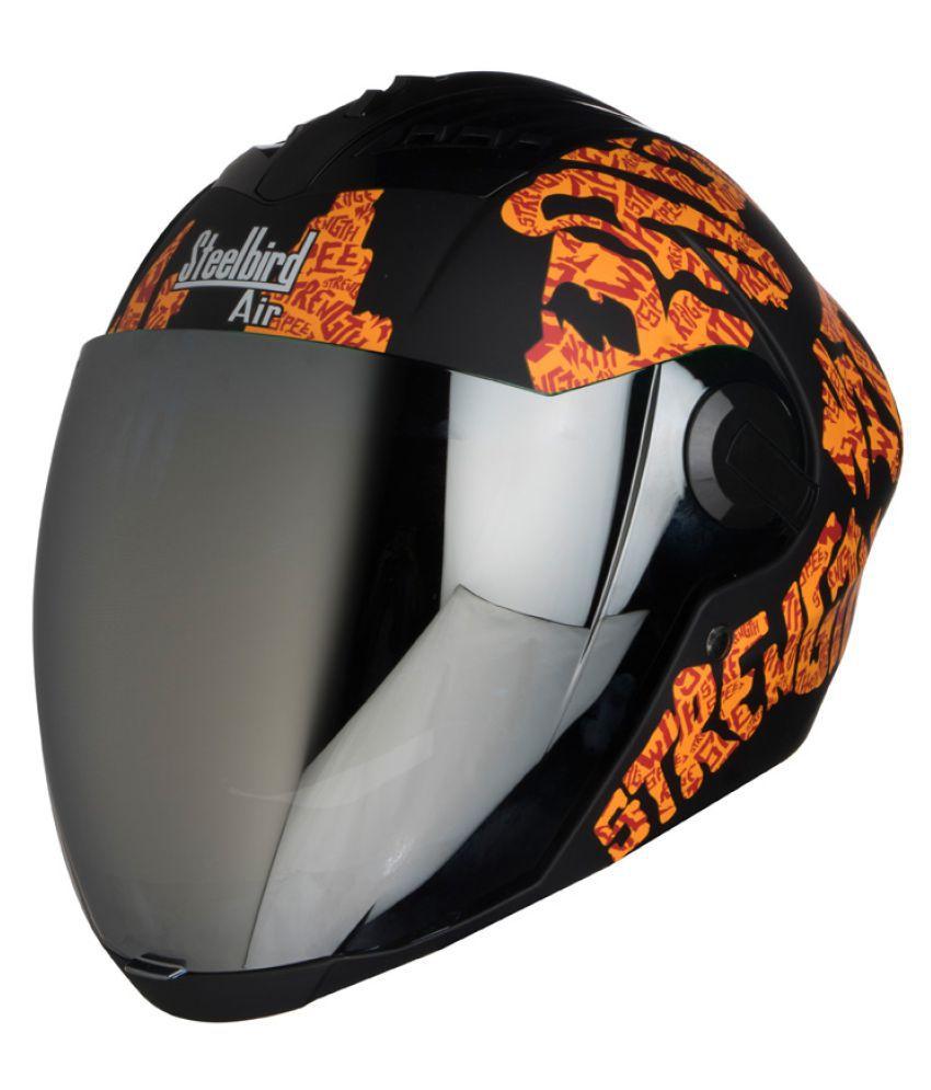 4ff1727a Steelbird Air SBA-2 Strength - Full Face Helmet Orange L: Buy Steelbird Air  SBA-2 Strength - Full Face Helmet Orange L Online at Low Price in India on  ...