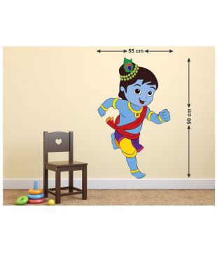 Wallstick Cute Baby Krishna Theme Vinyl Sticker Buy Wallstick Cute Baby Krishna Theme Vinyl Sticker Online At Best Prices In India On Snapdeal