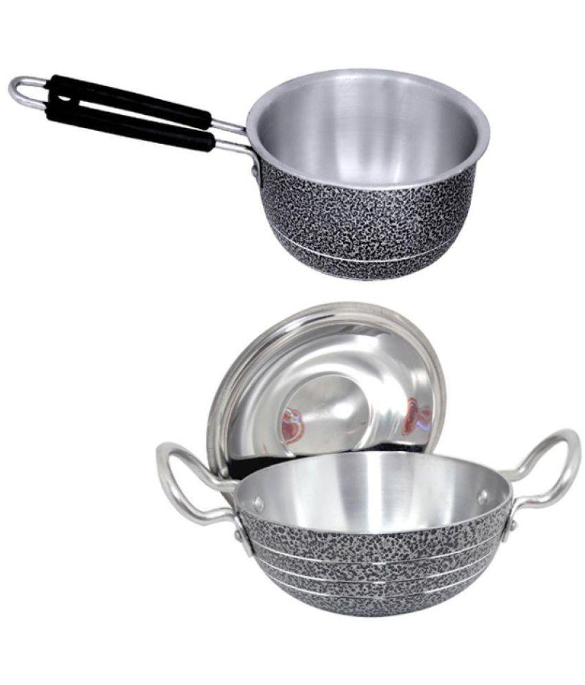 bartan hub Kadhai saucepan set 2 Piece Cookware Set