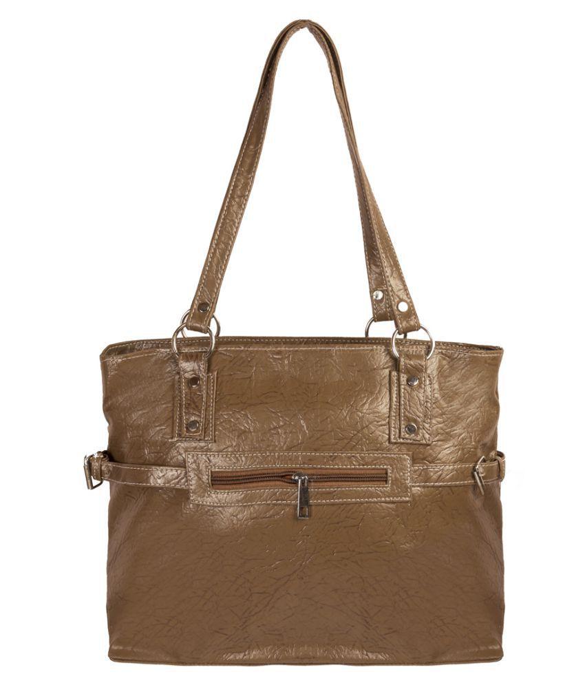 Levise London Brown Artificial Leather Shoulder Bag