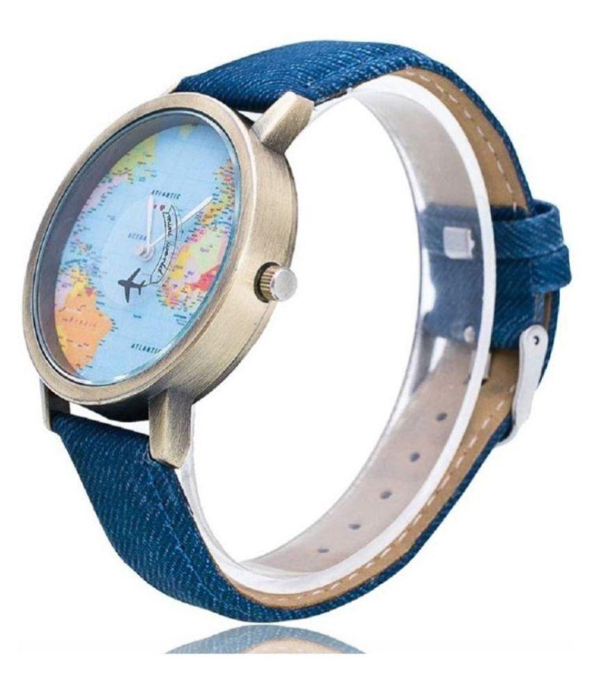Swadesi stuff world map mini world blue analog watch for girlswomen swadesi stuff world map mini world blue analog watch for girlswomen gumiabroncs Gallery