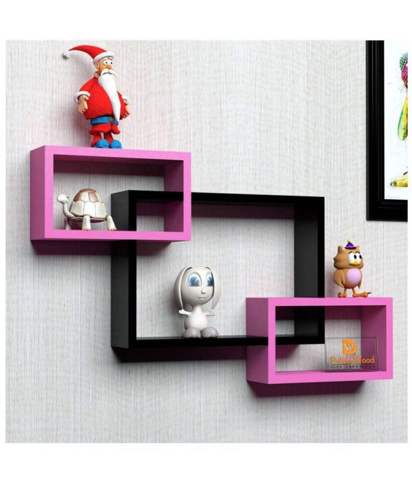 woodworld Floating Shelf/ Wall Shelf / Storage Shelf/ Decoration Shelf Multicolour - Pack of 1