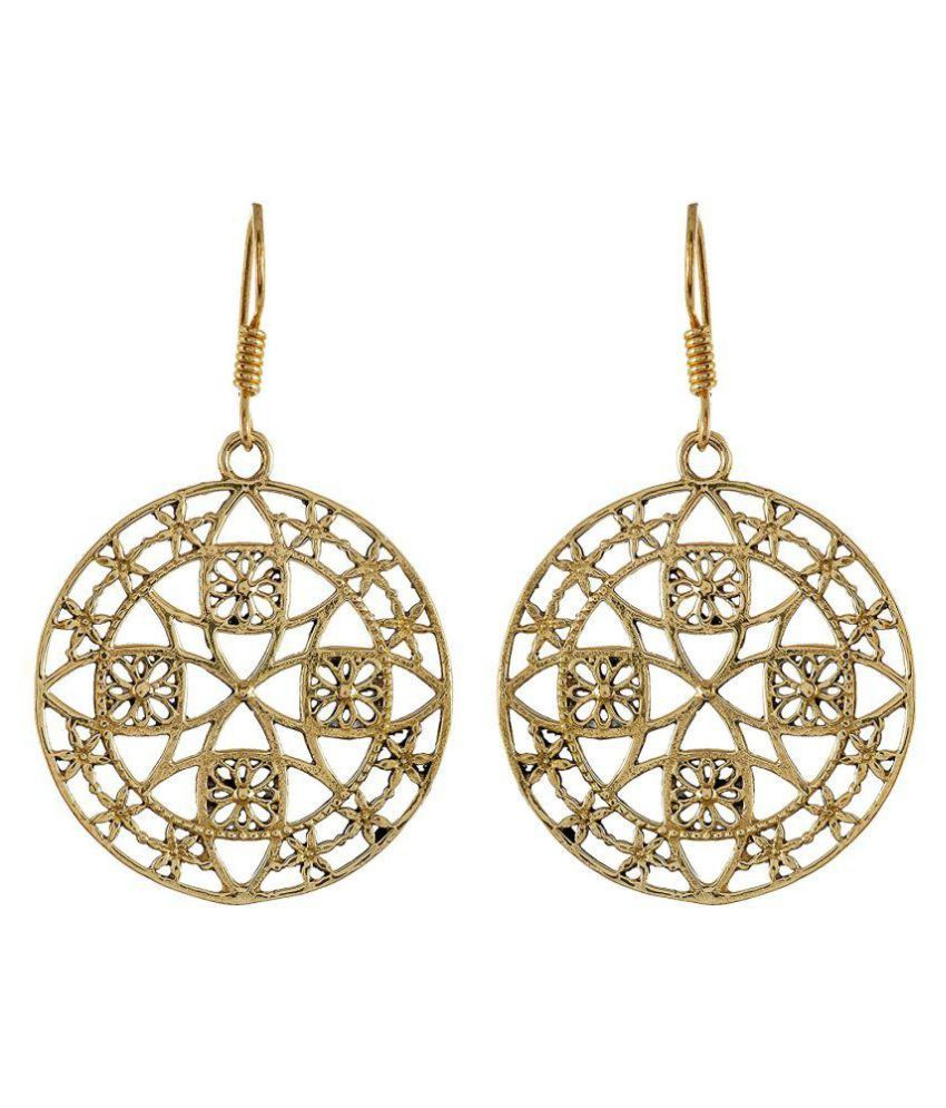 Jamnasha Exports Gold Brass hoop Earrings for women (JE054)