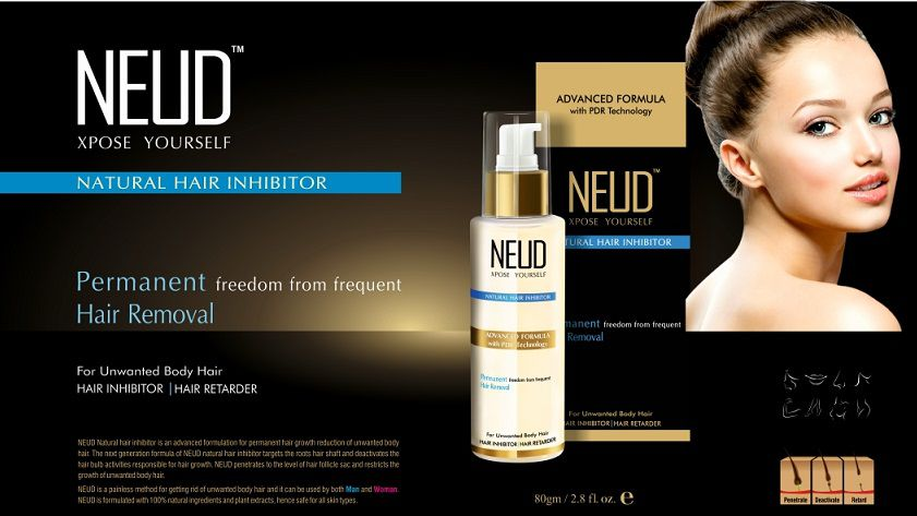 NEUD Natural Hair Inhibitor Permanent Hair Removal Cream 80 gm (Face & Body)