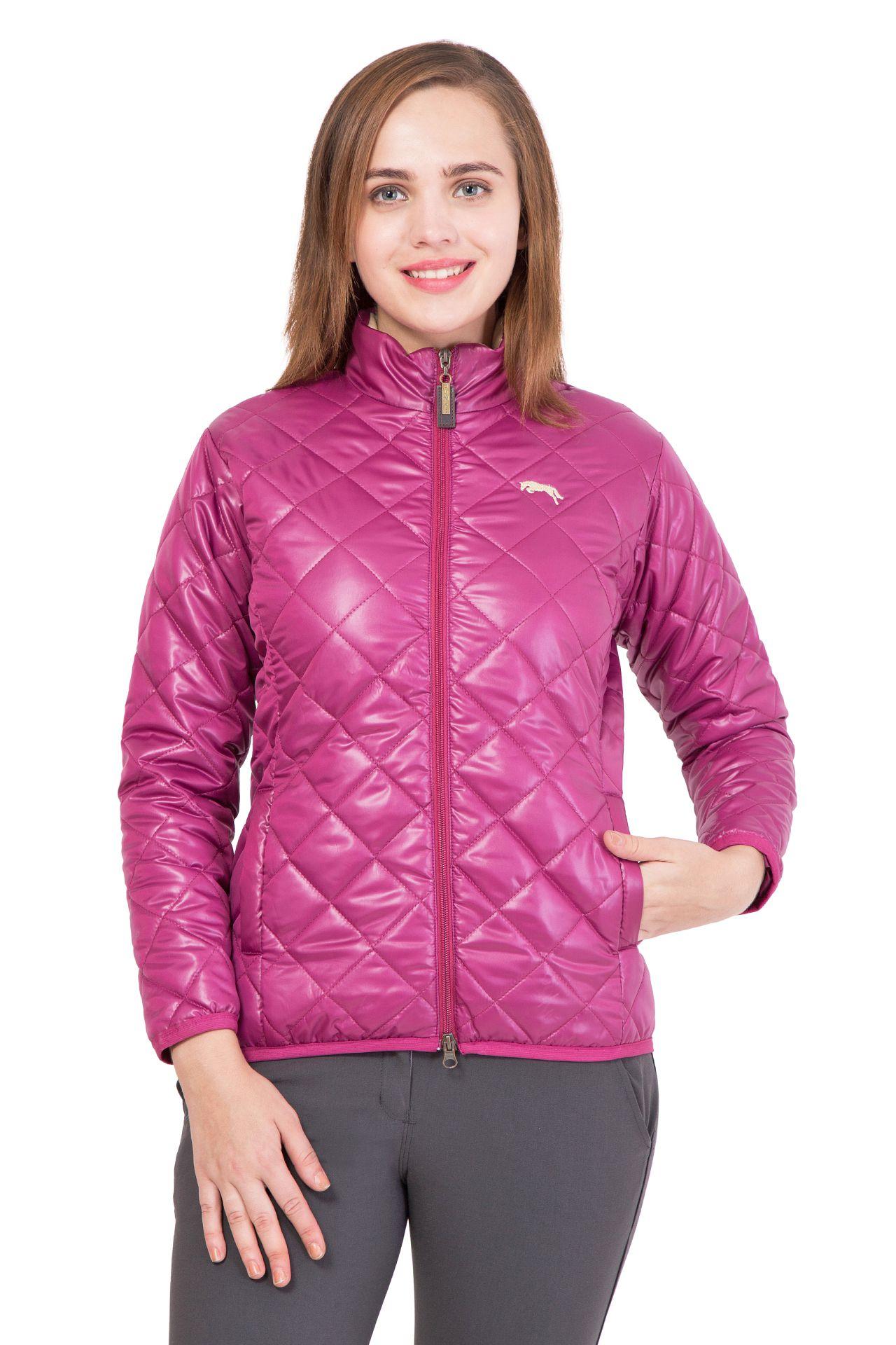 Jump USA Polyester Blend Purple Ethnic Jacket