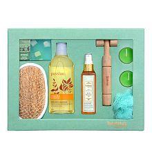 BodyHerbals Jasmine & Vanilla Gift Set Aromatherapy Bath Kit Pack of 7