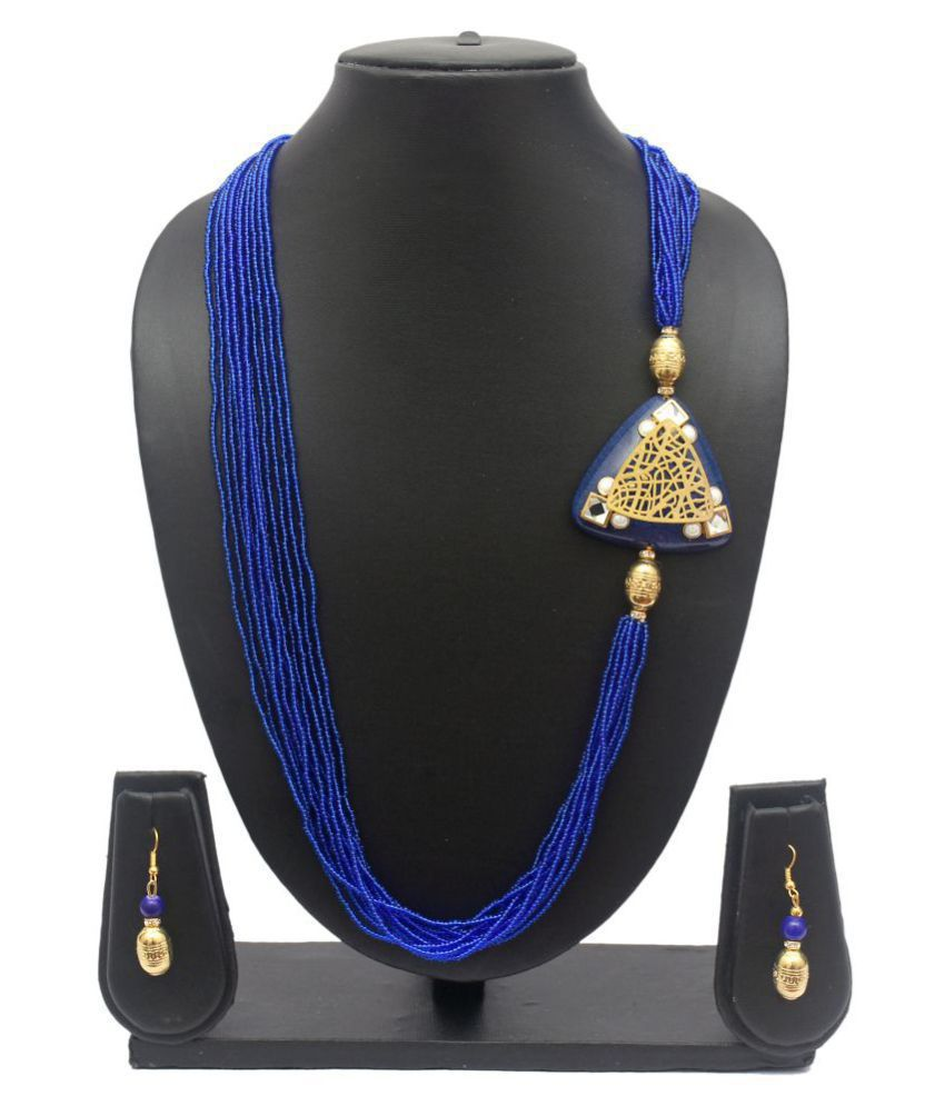 Blue Color Modern Necklace set for Women and Girls from DITA(BDNS99)
