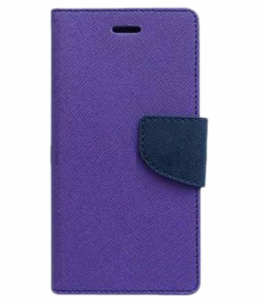 buy popular e4ff4 09c87 Lenovo K8 Plus Flip Cover by Kosher Traders - Purple