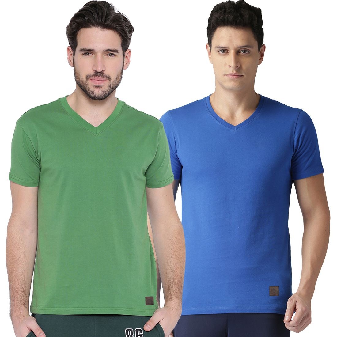 Polo Nation Multi V-Neck T-Shirt Pack of 2
