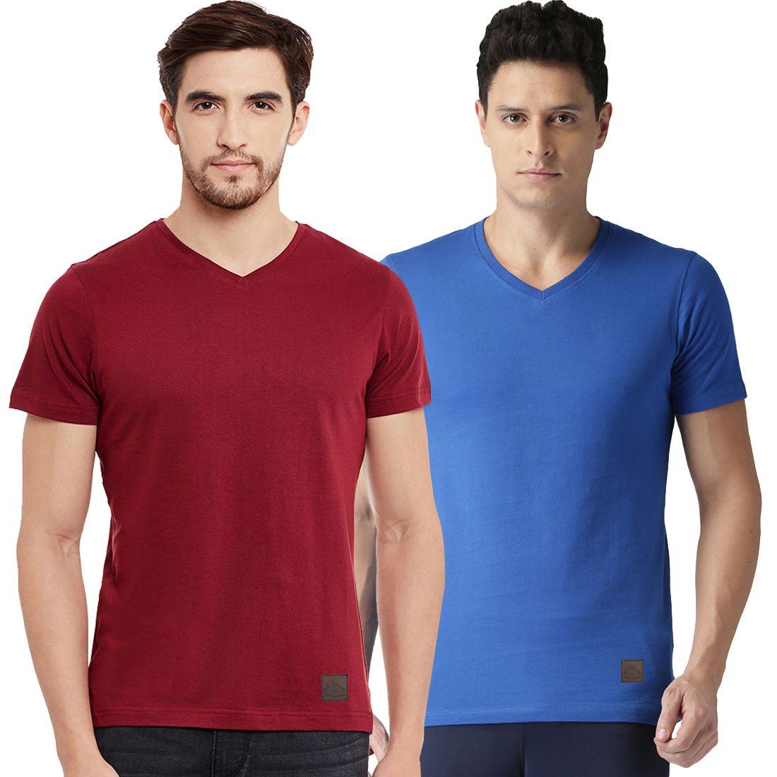 Polo Nation Multi V-Neck T-Shirt Pack of 2