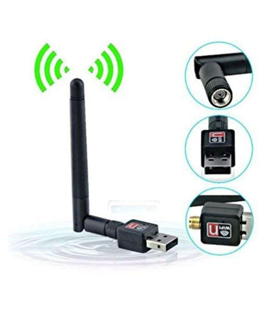 Fleejost WiFi 600 Mbps USB with Antenna 600 4G Black