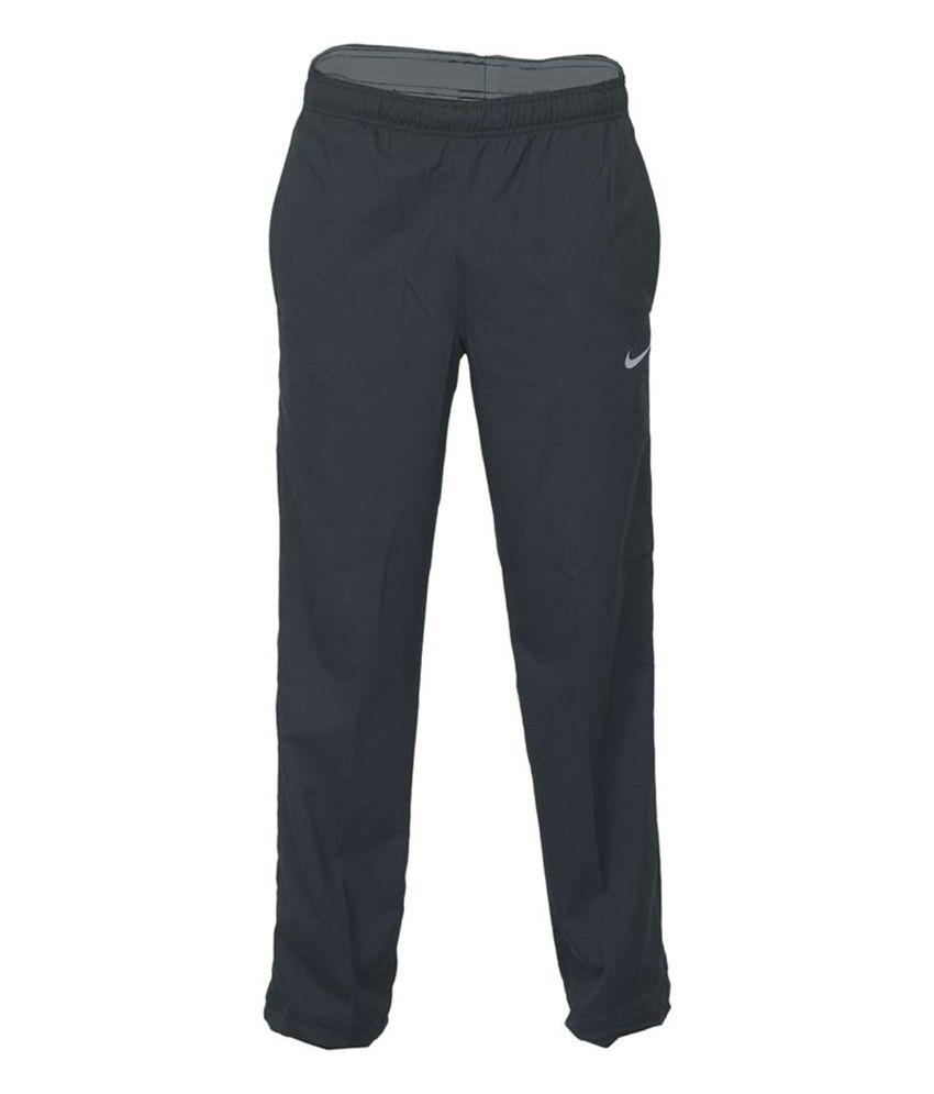 Nike Black Polyester Track Pant for Men