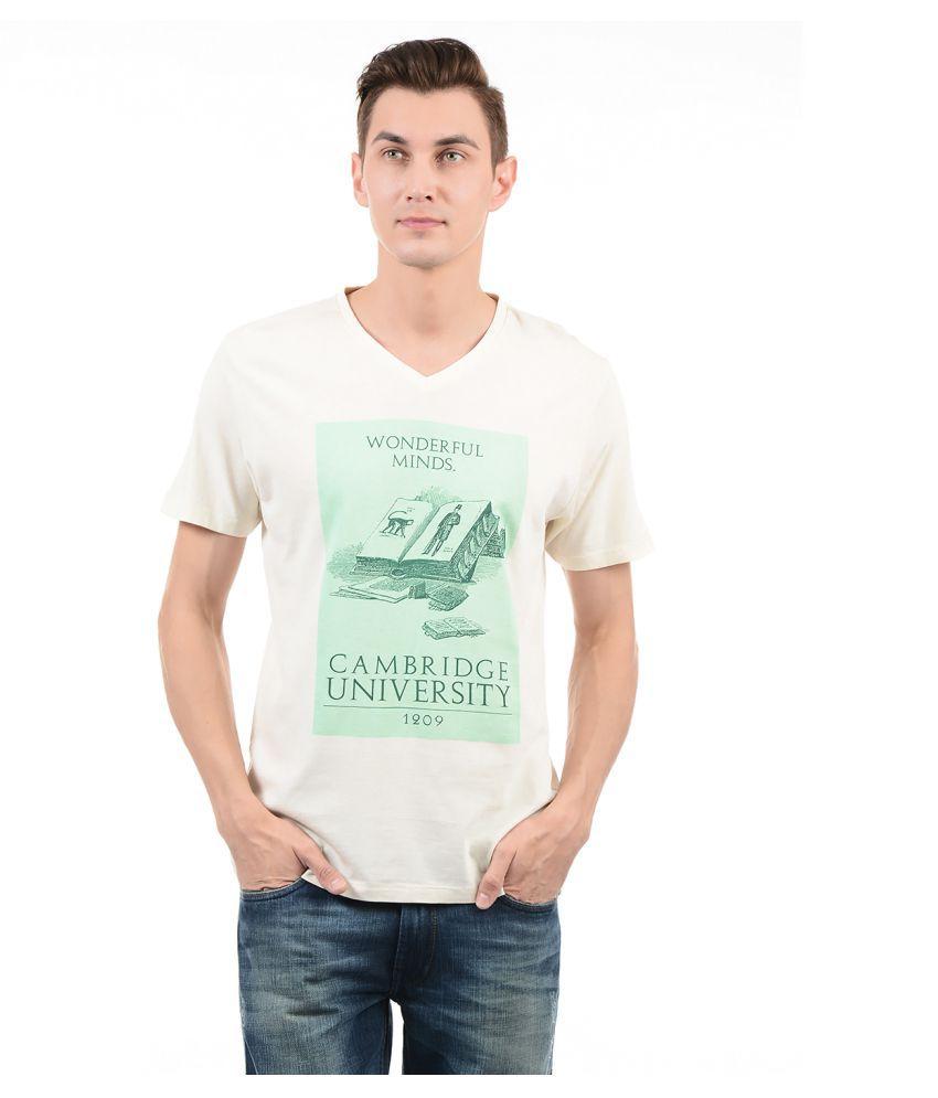 Pepe Jeans Off-White V-Neck T-Shirt