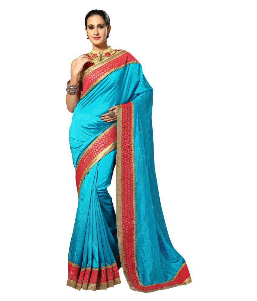 Urban India Blue Dupion Silk Saree