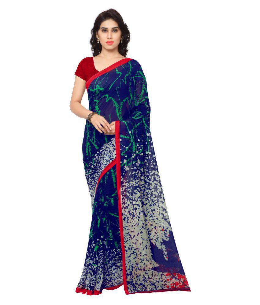Urban India Blue Georgette Saree