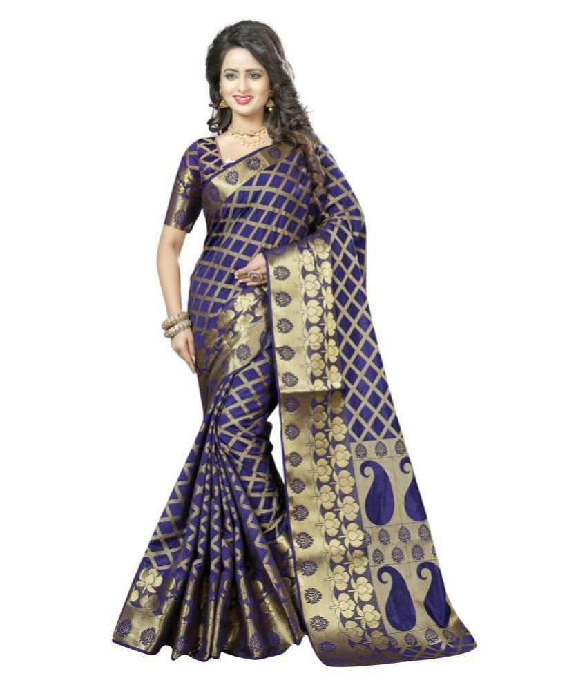 Urban India Purple Jacquard Saree
