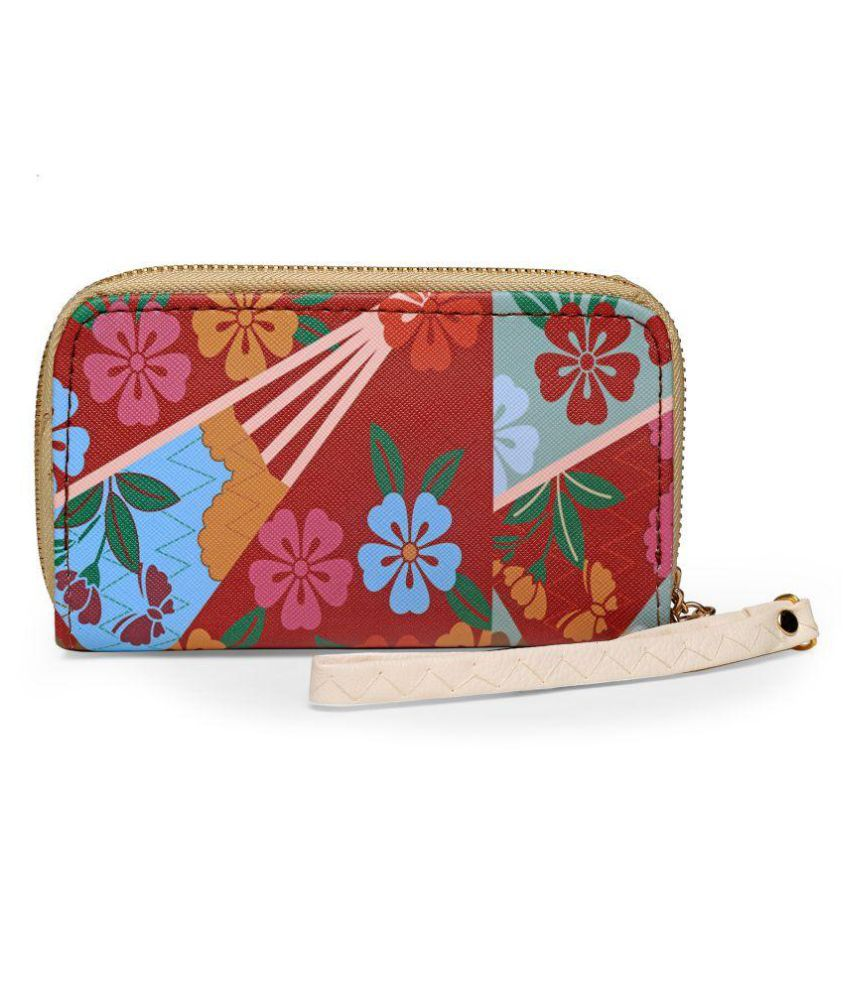 Camey Pink Faux Leather Wristlet