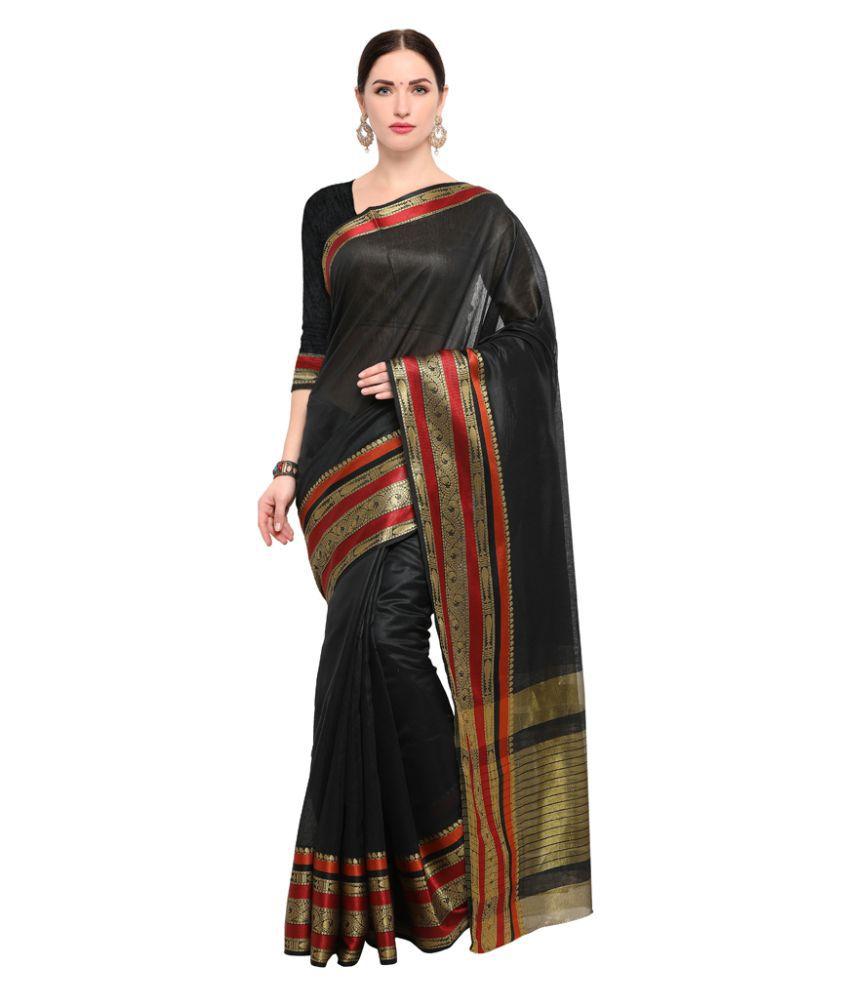 Varkala Silk Sarees Brown Cotton Silk Saree
