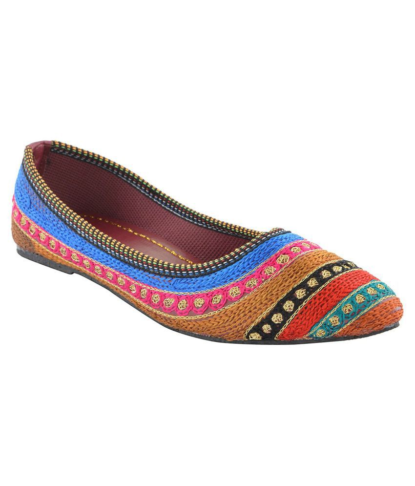 gofits Multi Color Ethnic Footwear